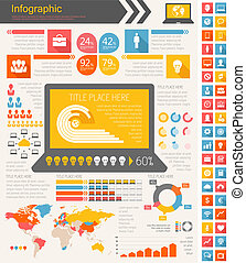 IT Industry Infographic Elements Opportunity to Highlight...