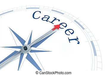 Compass Career - An image of a nice blue compass with the...