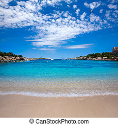 Ibiza Port des Torrent near San Antonio beach in Balearic...