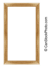 photo frame - wooden photo frame isolated on white...