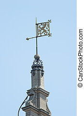 Weather vane Dutch lion ornament - Ornamental building tower...