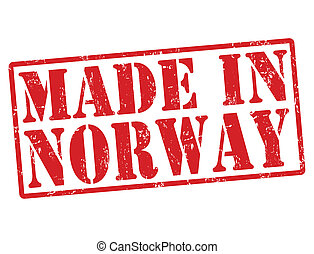 Made in Norway stamp - Made in Norway grunge rubber stamp on...