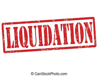 liquidação, selo