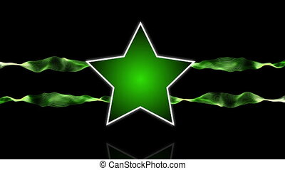 Star logo green - Star logo animation with abstract stripes...