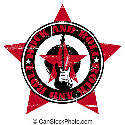 Rock and Roll - Grunge Rock and Roll wallpaper with guitar...