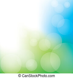 Abstract Bokeh Background - Green and blue bokeh themed...