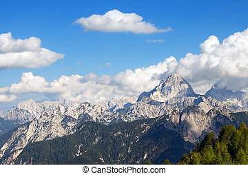 Julian Alps and Mount Mangart, Friuli Italy - Julian Alps...