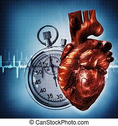 tiempo, pensar, sobre, Extracto, salud, médico,...