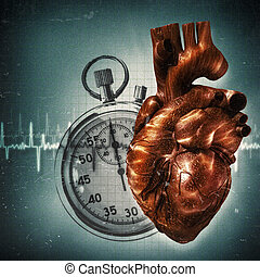 Your time is up! Grungy health and medical backgrounds