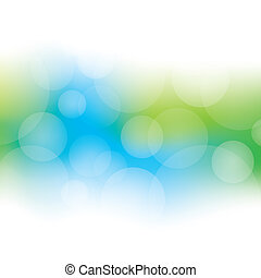 Abstract Bokeh Background - Blue and green abstract bokeh...