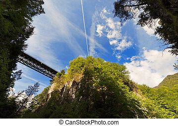 Slizza (Gailitz) Canyon in Tarvisio Italy - The canyon...