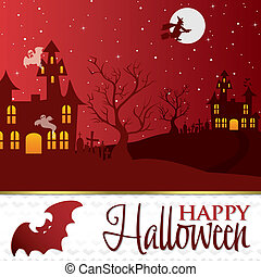 Happy Halloween - Halloween card in vector format.