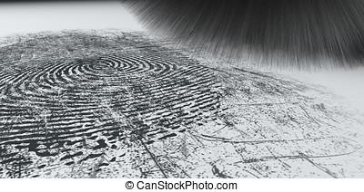 Dusting For Fingerprints On White - A crime scene brush...