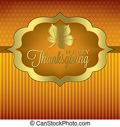 Happy Thanksgiving - Leaf elegant Thanksgiving card in...