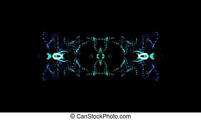 Abstract Kaleidoscope Effect Background