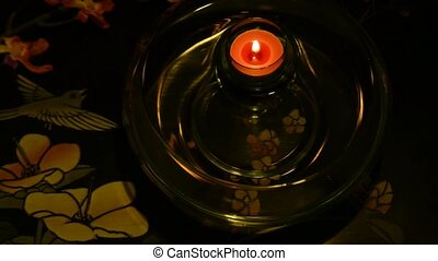 tea candle swimming