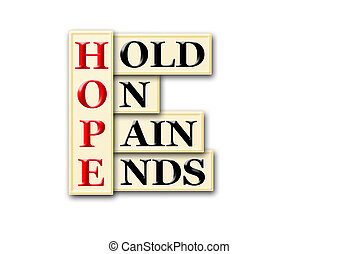 hope pain - Acronym concept of Hope and other releated words