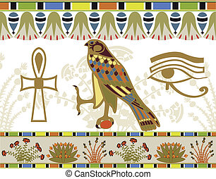 Egyptian patterns and symbols