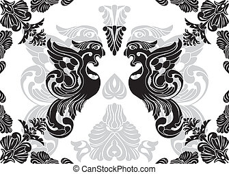 Phoenix stencil and decorative framework