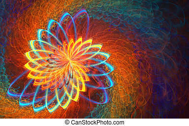 Fractal background with abstract shapes. High detailed...