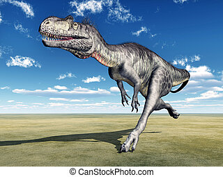 Dinosaur Megalosaurus - Computer generated 3D illustration...