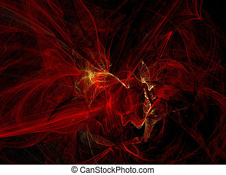 hell - Red hell flames in a dark background