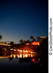 Mirage Volcano in Las Vegas - Erupting Mirage Volcano at the...