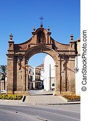 Puerta de Granada, Antequera. - Entrance arch to town...