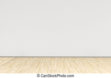 White room with hardwood floor as background