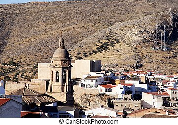 White town, Loja, Andalusia, Spain. - View over the town...