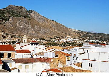 White town, Loca, Andalusia, Spain. - View across the town...
