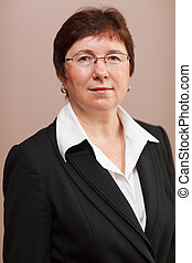 Female business executive - Portrait of a middle-aged...