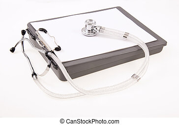 Doctor Clipboard - clip board and stethoscope for medical...