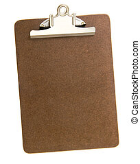 Empty Clip Board - Blank clip board for clamping papers