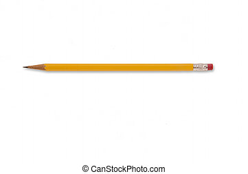 Yellow Lead Pencil - Basic yellow wooden lead pencil for...