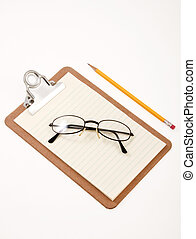 Blank Paper Clipboard - Clip board with blank papers for...