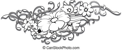 flower tattoo - this is a flower tattoo author work