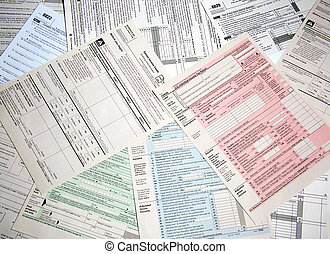 Income Tax Forms - Variety of tax forms for filing...