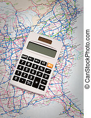 Mileage Calculatorf - Figuring miles for travel road trip