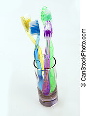 Colorful Dental Care - Colored dental tool set for tooth...