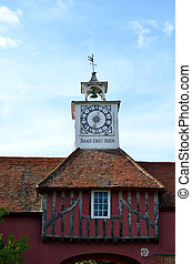 Elizabethan Clock Tower in Portrait