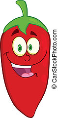 Red Chili Pepper Cartoon Character