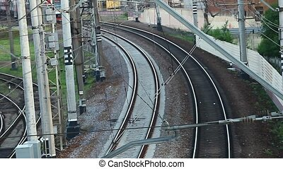 Electric Train - HD1080: train top view sequence Tripod...