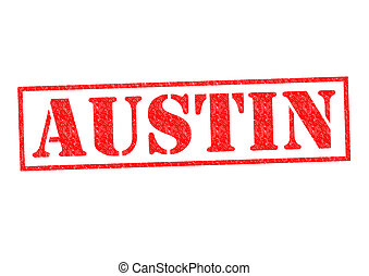 AUSTIN Rubber Stamp over a white background.
