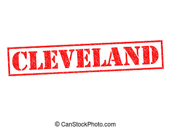CLEVELAND Rubber Stamp over a white background