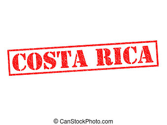 COSTA RICA Rubber Stamp over a white background
