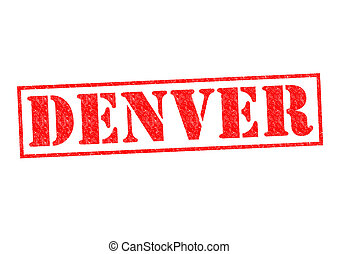 DENVER Rubber Stamp over a white background