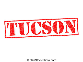 TUCSON Rubber Stamp over a white background
