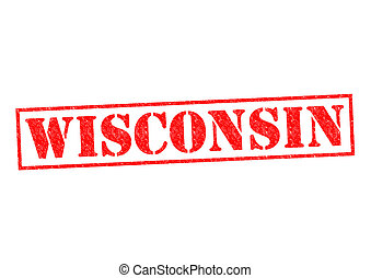 WISCONSIN Rubber Stamp over a white background.
