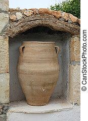 ceramic vase - vintage ceramic vase to hold oil or wine